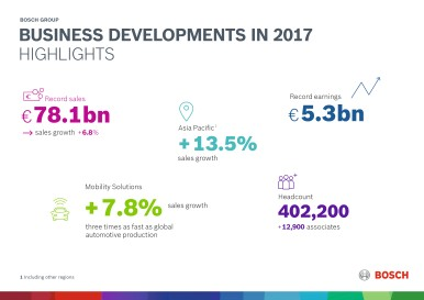 Business developments in 2017 by business sector