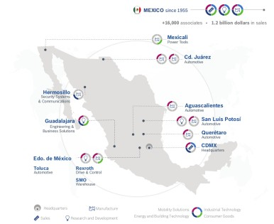 Standorte Bosch in Mexiko
