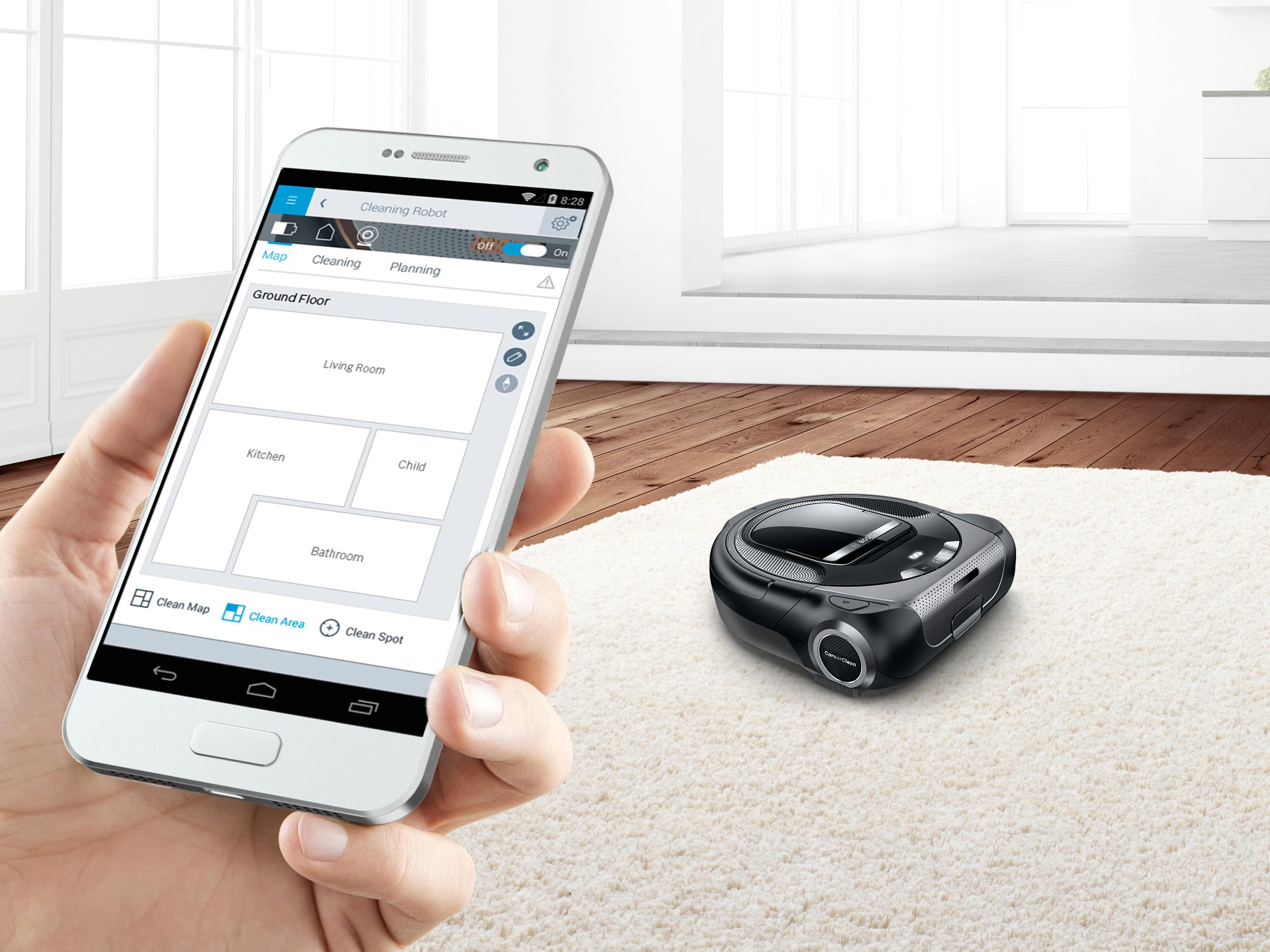 Roxxter : The powerful vacuum cleaner robot from Bosch
