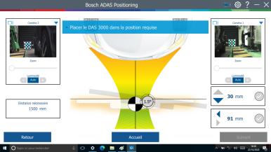 Verbeterd Bosch DAS 3000-kalibratietoestel voor rijhulpsystemen