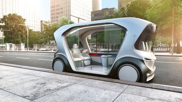 Modelshuttle van Bosch voor nieuwe vorm van mobiliteit