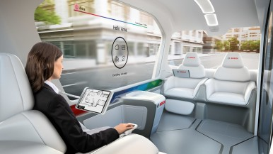 World first at CES: Bosch presents the concept shuttle vehicle