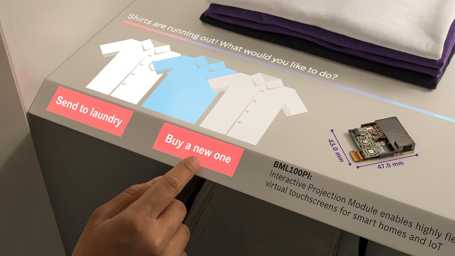 Bosch announces virtual touchscreen on every surface for smart homes and IoT