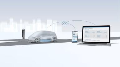 Nieuwe clouddiensten van Bosch herkennen de stressfactoren van de batterij en optimaliseren het oplaadproces.