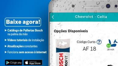 Bosch disponibiliza aplicativo sobre instalação de palhetas