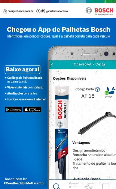Aplicativo de palhetas Bosch