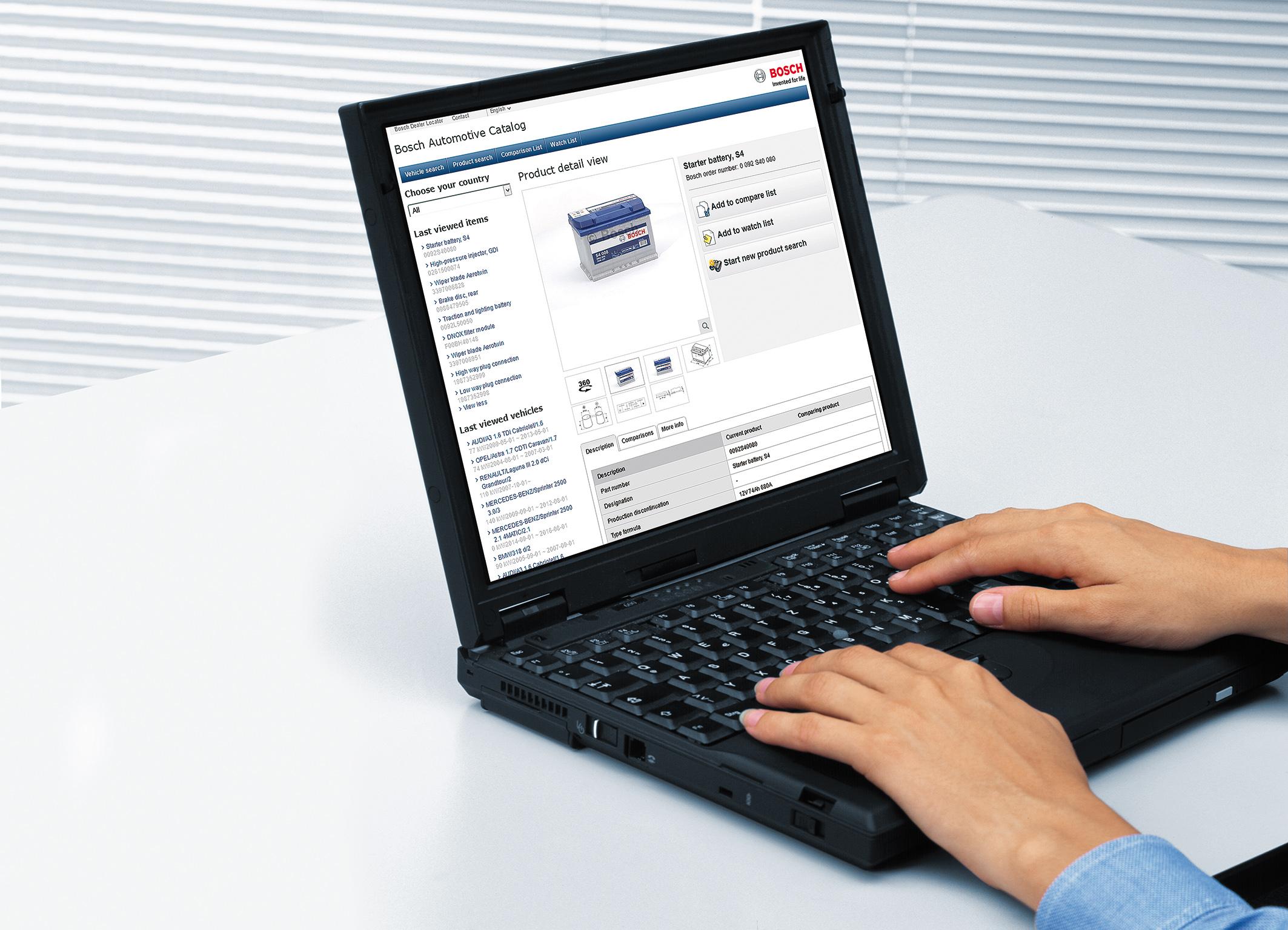 Catálogo online de autopeças da Bosch
