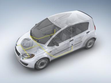 Unidade de controle do airbag com quatro controles de acelçeração