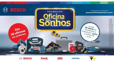 """Dia dos Pais: Bosch realiza promoção """"Oficina dos Sonhos"""""""