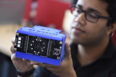 Sensor SoundSee, que isola sons incomuns na Estação Espacial Internacional