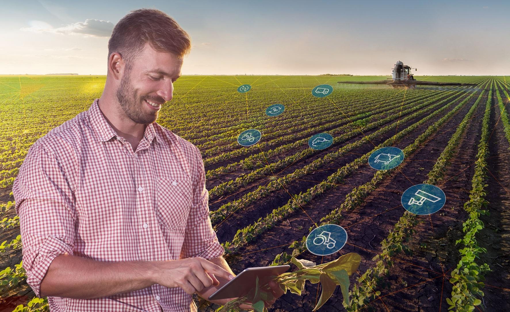 Imagem conceito: conectividade no campo