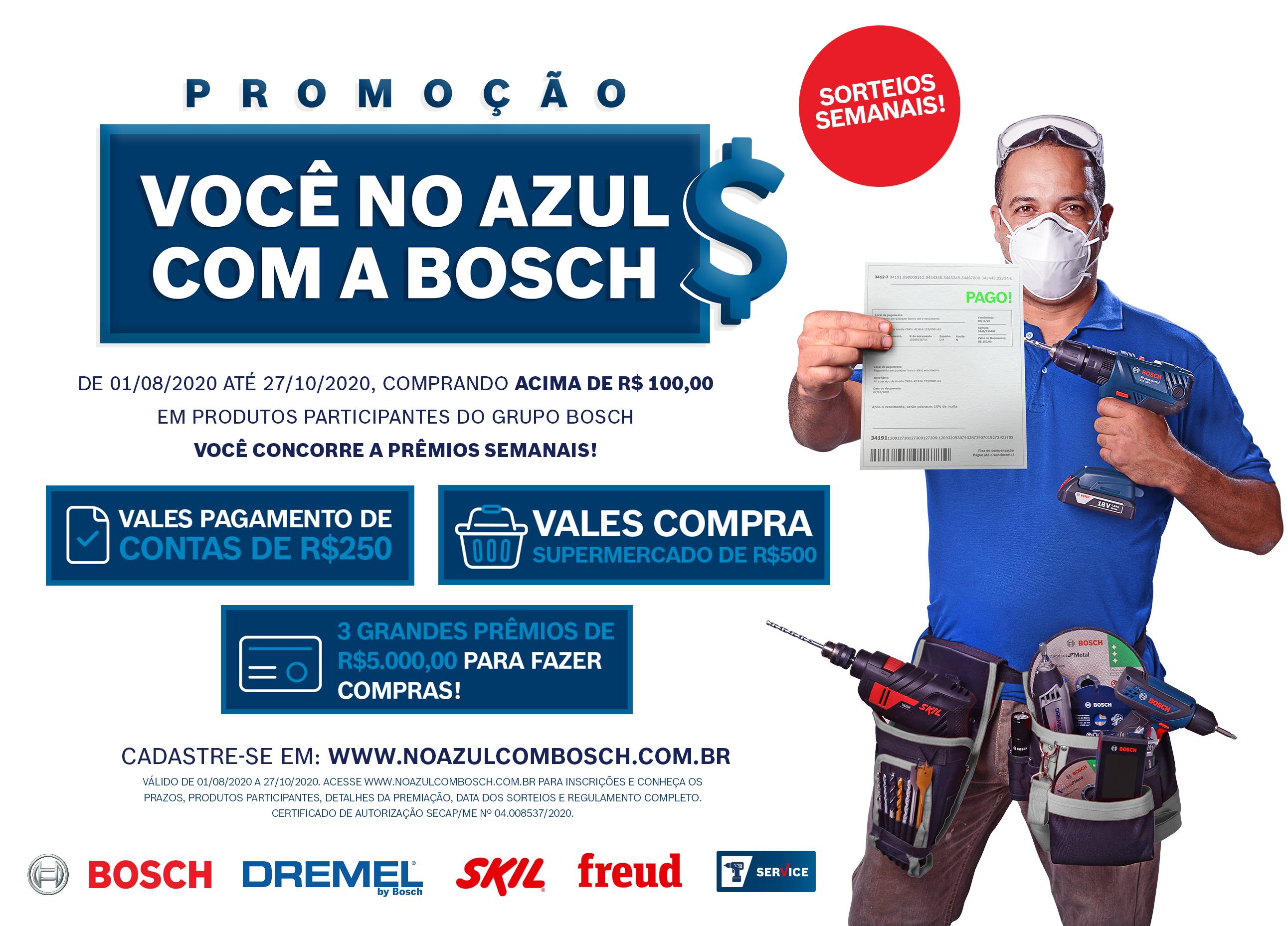 Promoção Você no Azul com a Bosch