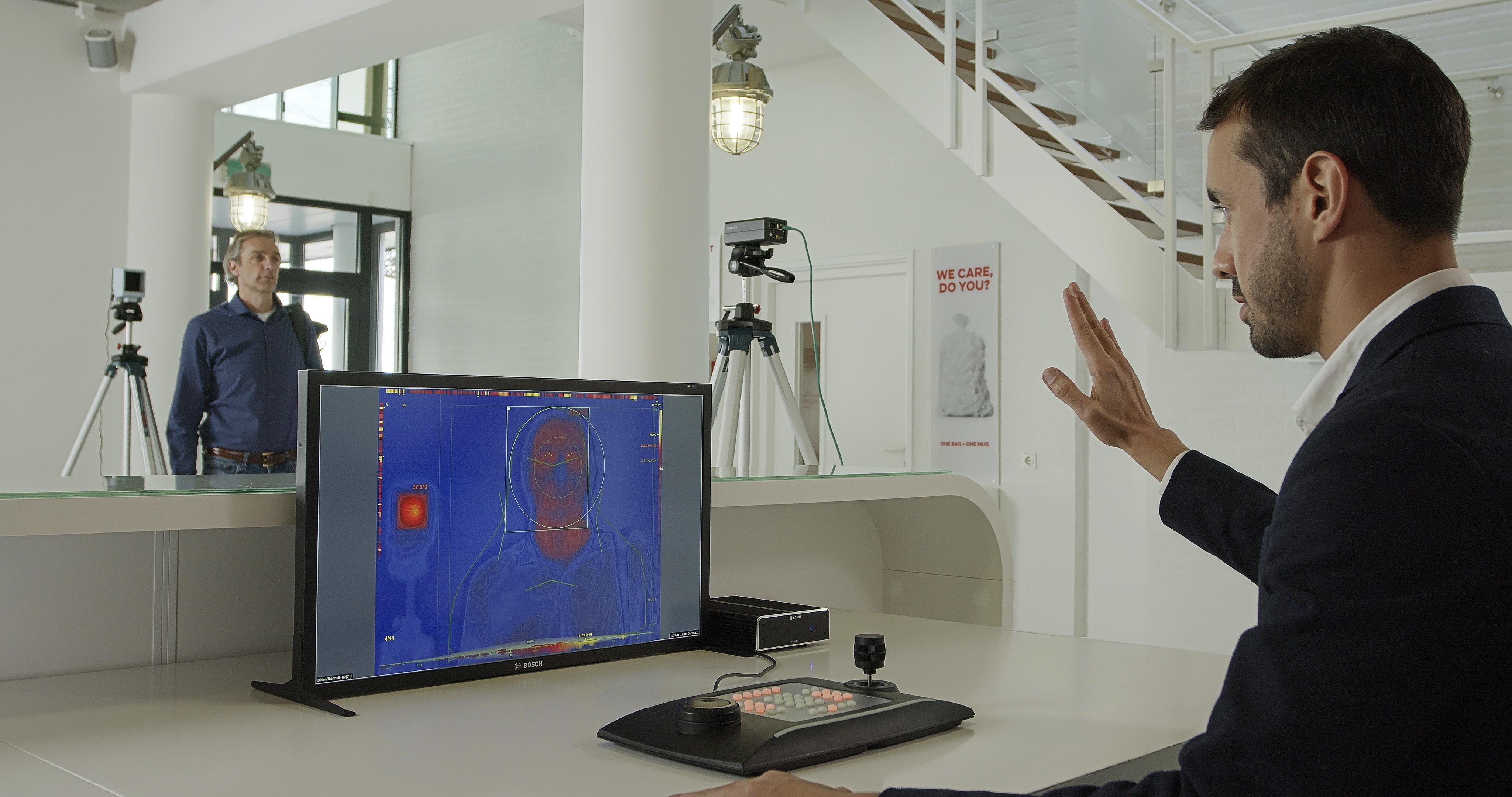 Nova tecnologia com análise de vídeo inteligente integrada é capaz de medir a temperatura corporal sem contato