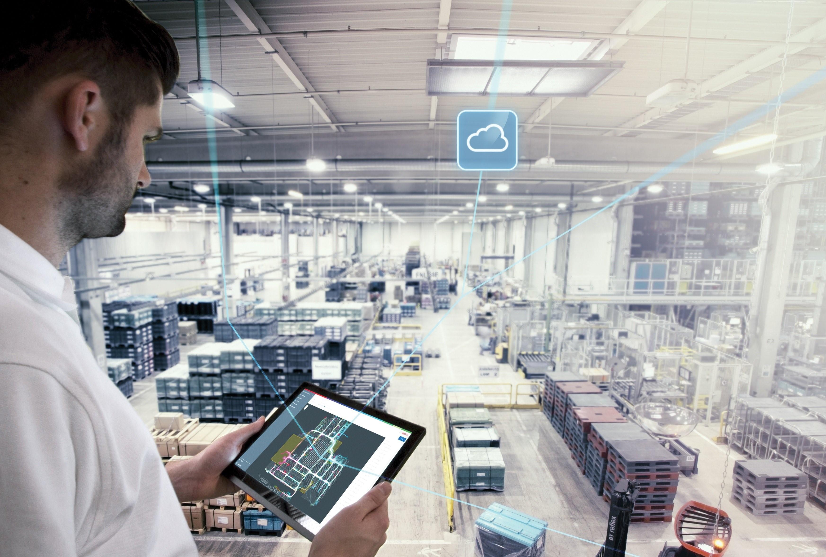 Sistema de aplicação industrial Nexeed da Bosch Connected Industry