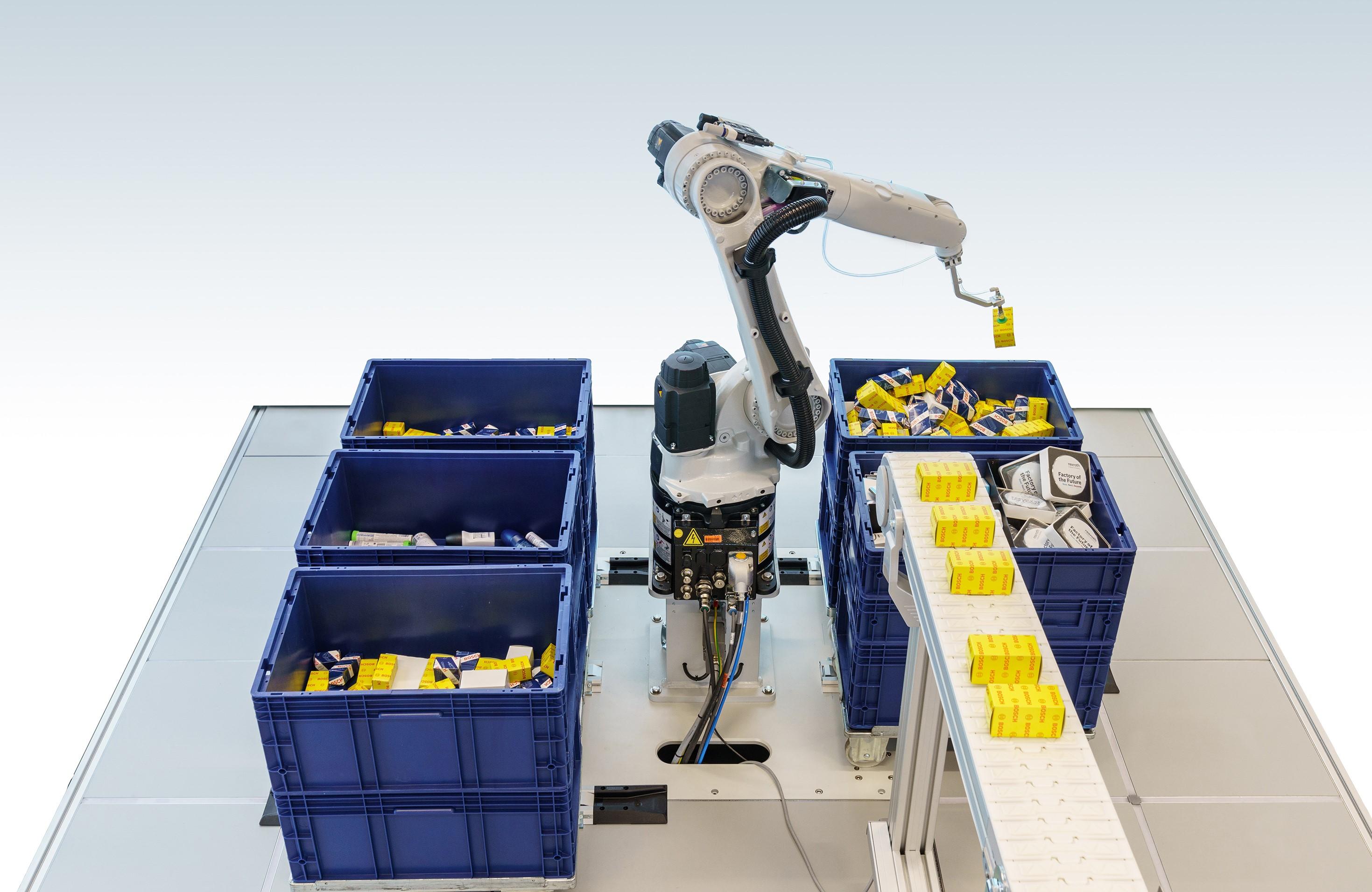 Solução inteligente de separação de itens da Bosch Rexroth