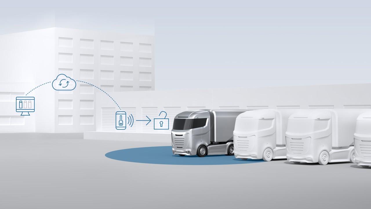 Sistema pioneiro de acesso ao caminhão sem chaves