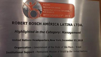 Projeto de inclusão de pessoas com deficiência da Bosch é reconhecido pela ONU