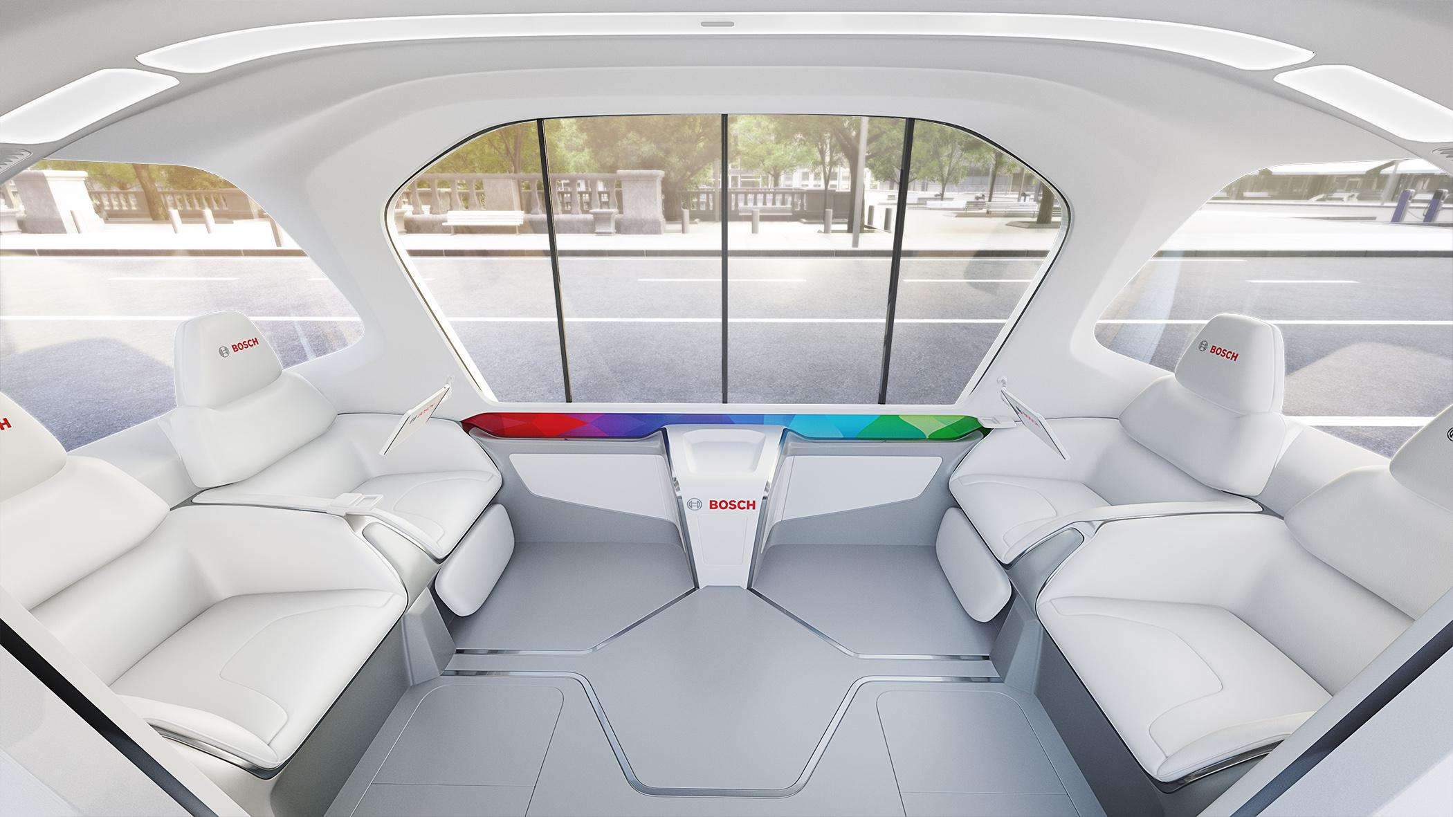 Bosch lança conceito de ônibus elétrico sem motorista com serviços integrados