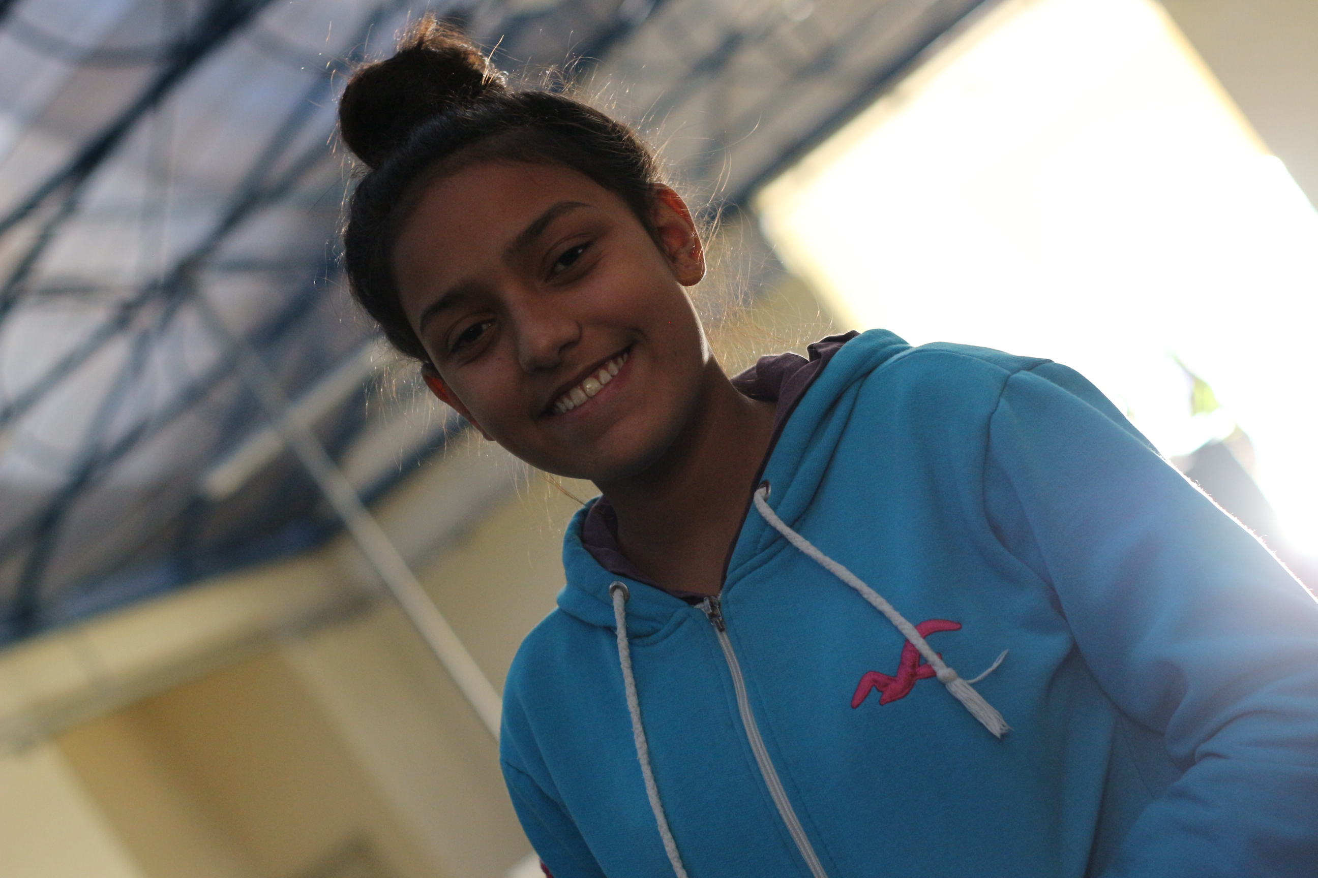 Jennifer Jetka, 13, integrante da Equipe JUNO