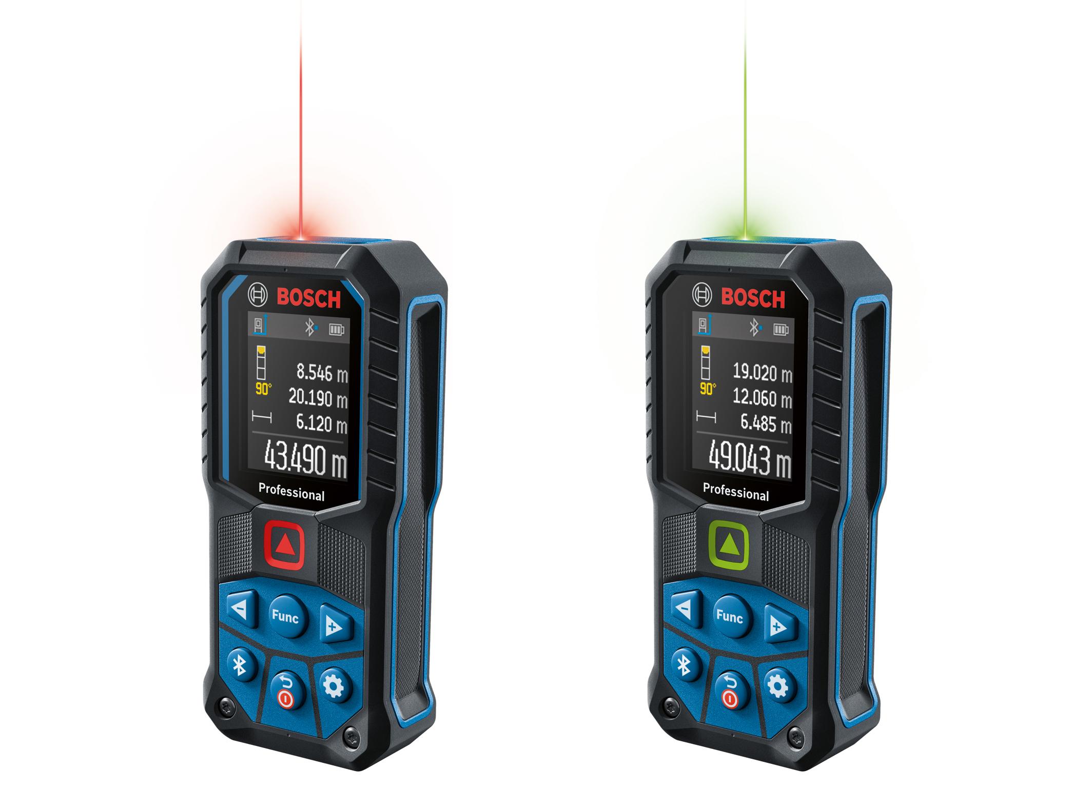 Presné meranie, ľahké čítanie, bezdrôtový prenos: Robustné laserové diaľkomery od spoločnosti Bosch pre profesionálovvv