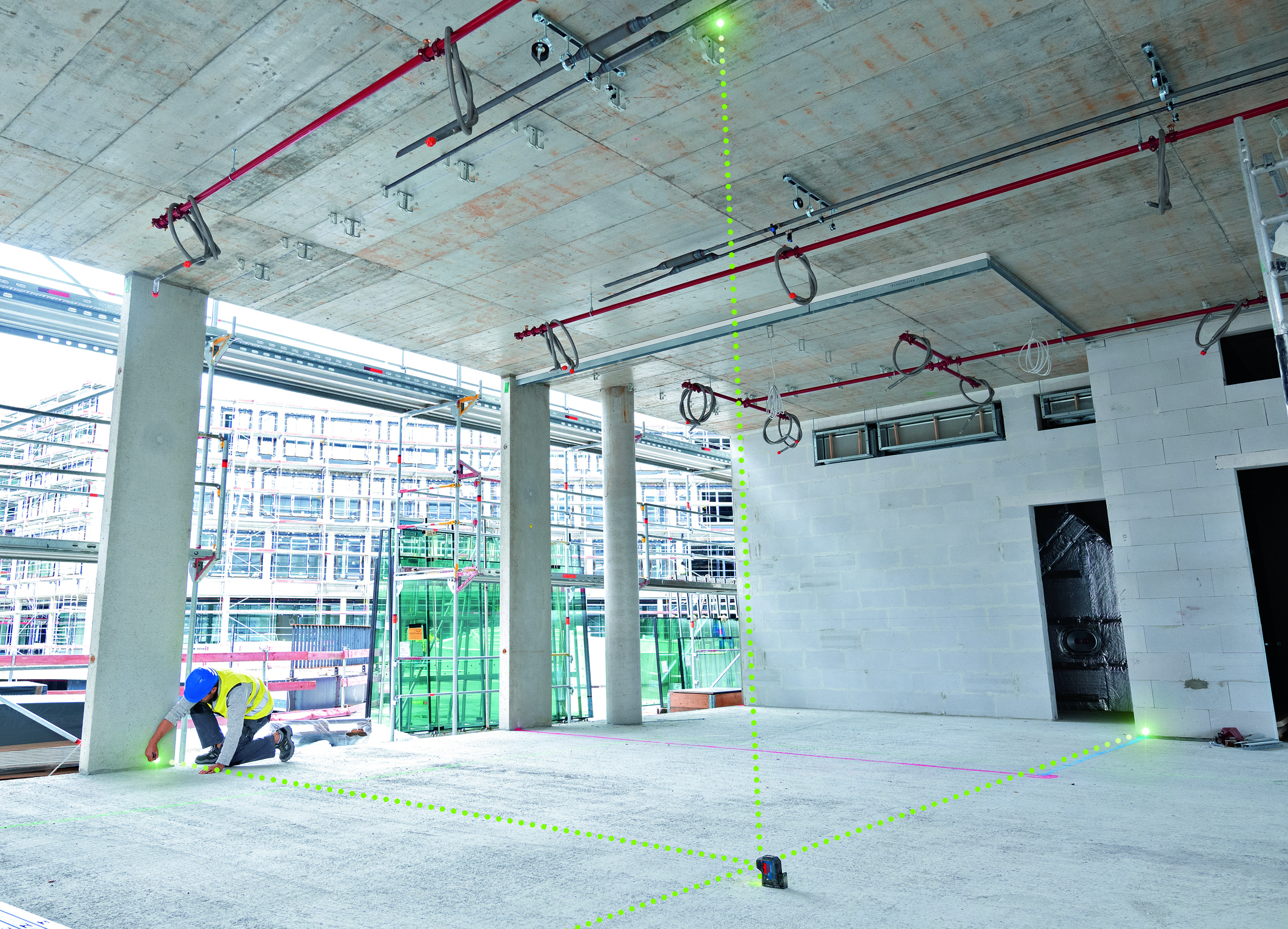 Zelená laserová dióda pre optimálnu viditeľnosť: Nová generácia bodových laserov Bosch pre profesionálov