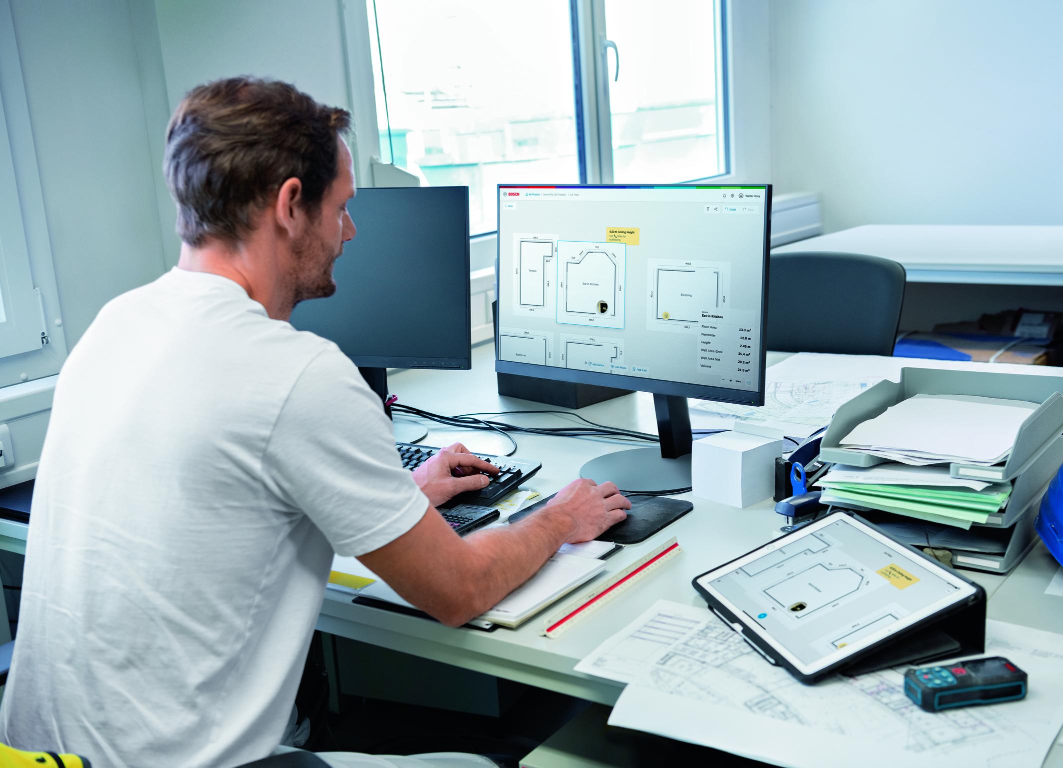 Ľahšie spracovanie dát prostredníctvom aplikácie a cloudu: MeasureOn od spoločnosti Bosch pre profesionálov
