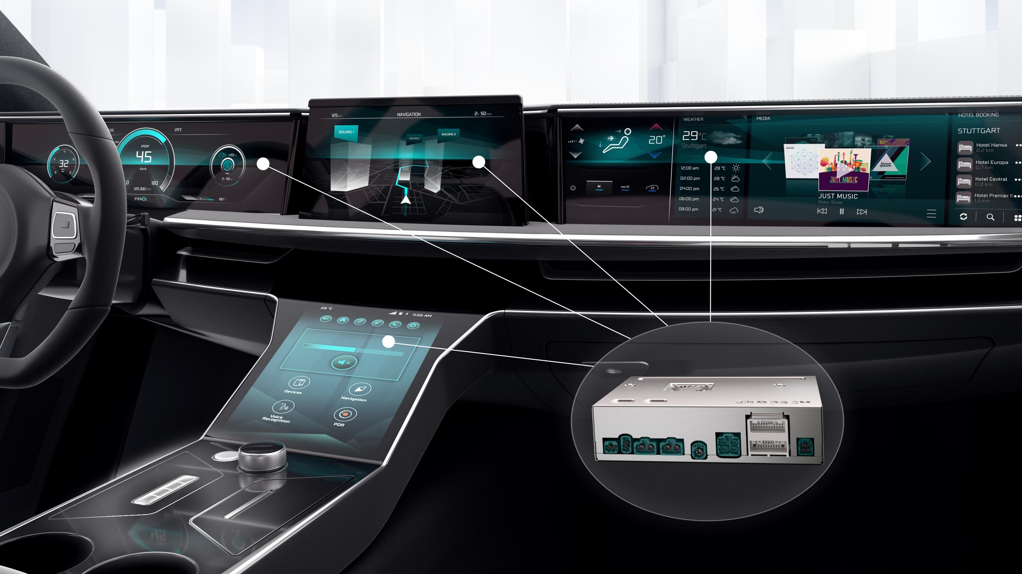 Výkonné počítače ve vozech od společnosti Bosch