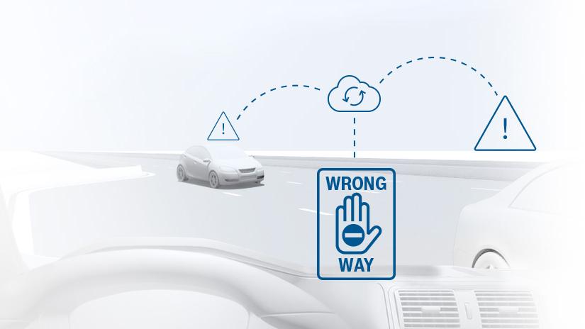 Varovanie vodiča pri jazde v nesprávnom smere od spoločnosti Bosch