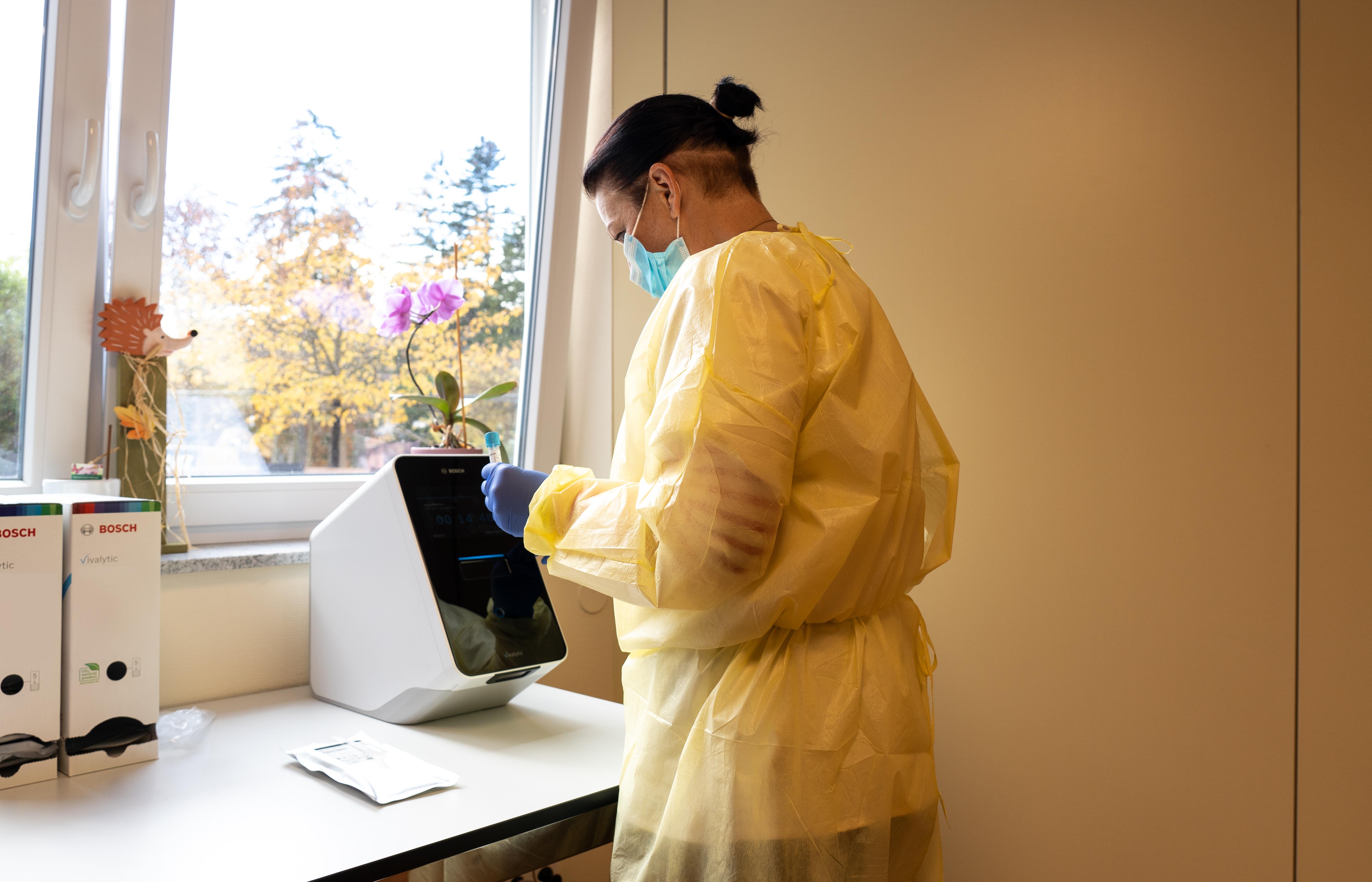 Vyhodnotenie vzorky s Bosch Vivalytic v opatrovateľskom dome