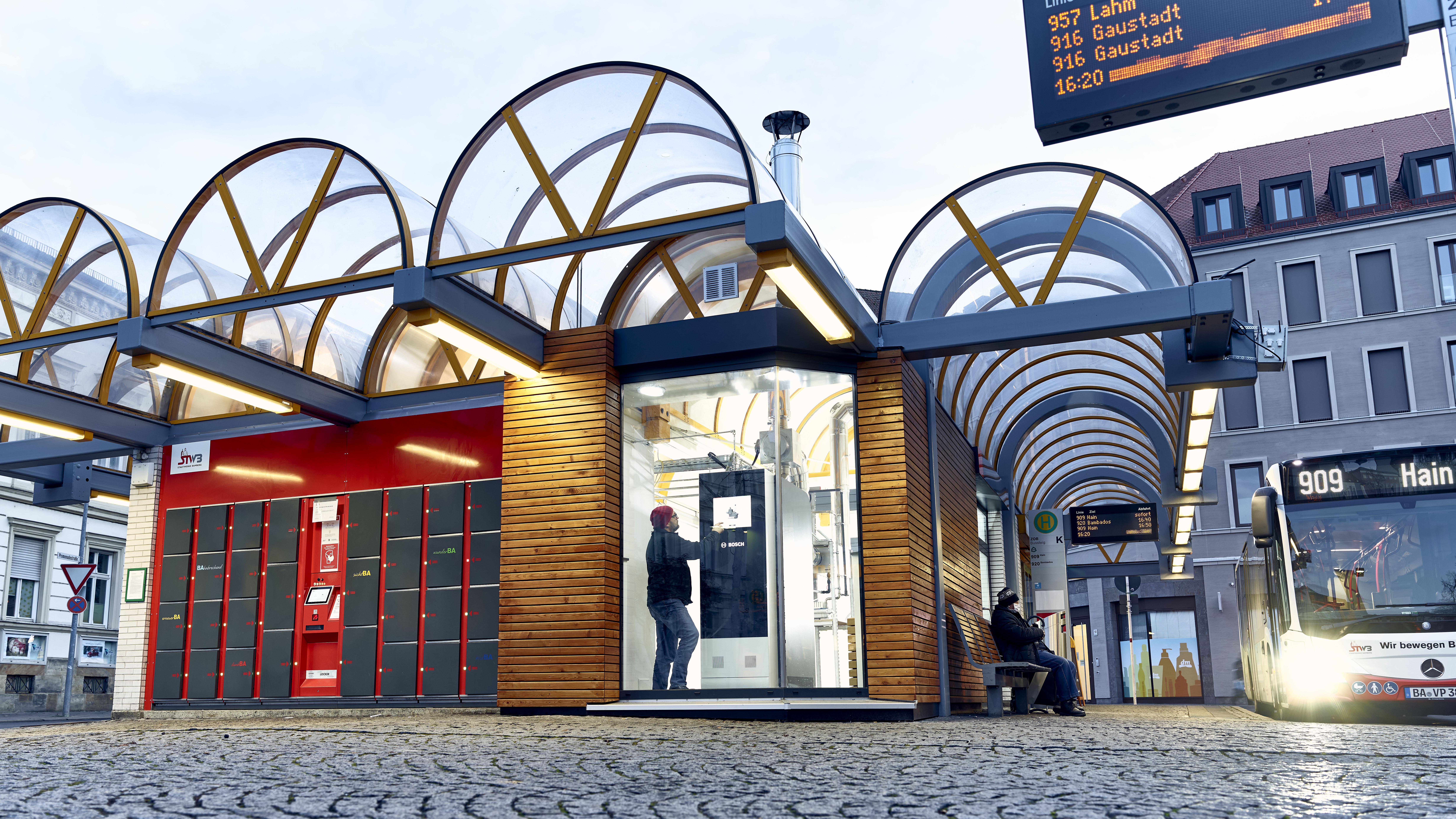 SOFC na autobusovém nádraží v Bambergu