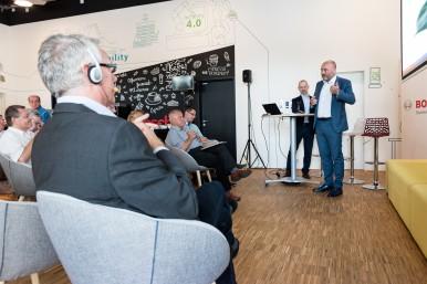 Generální manažer Bosch Group v ČR Milan Šlachta během výroční tiskové konference