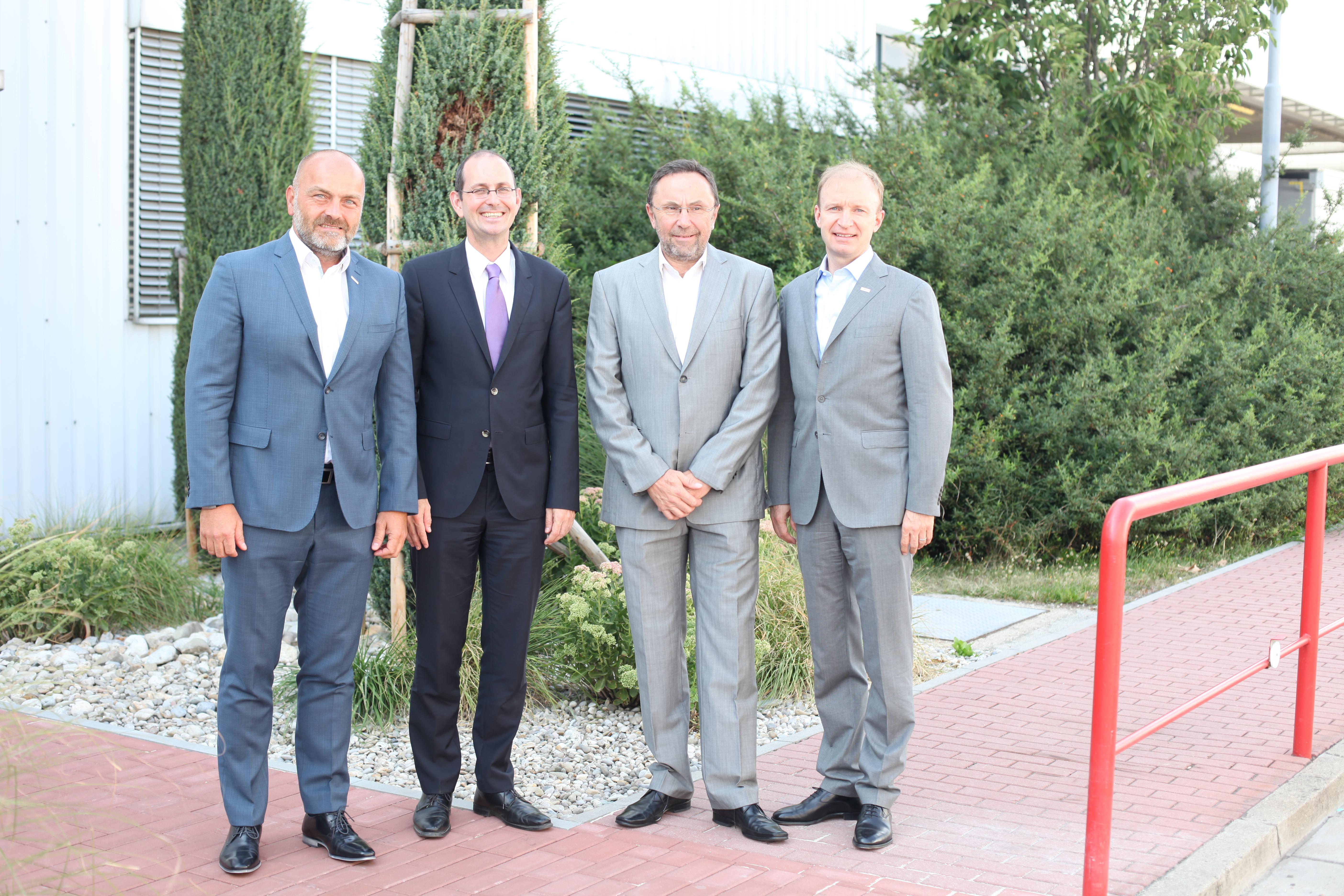 Zleva Milan Šlachta, Dr. Christoph Israng, Václav Pixa, Kai Frericks