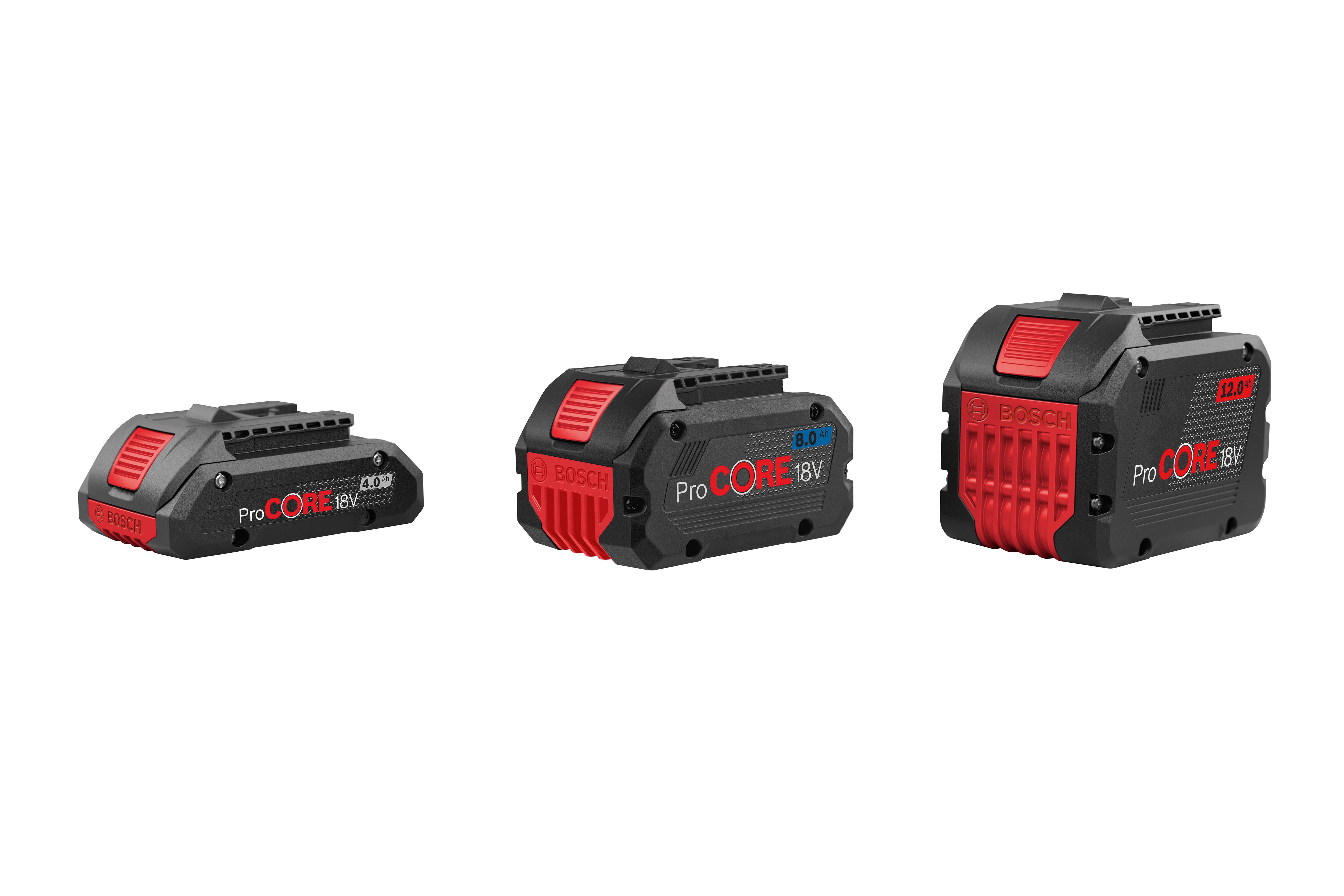 Nejkompaktnější vysoce výkonné akumulátory na trhu: Nová řada Bosch ProCORE18V pro profesionály