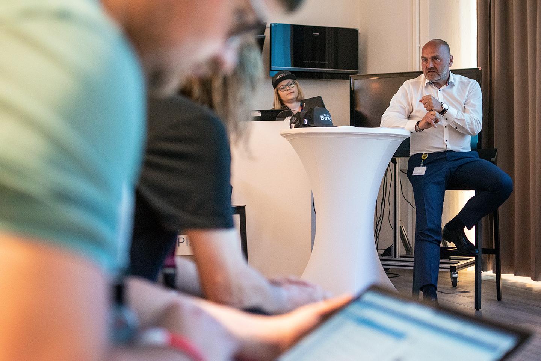 Milan Šlachta, reprezentant Bosch Group v ČR, během výroční tiskové konference