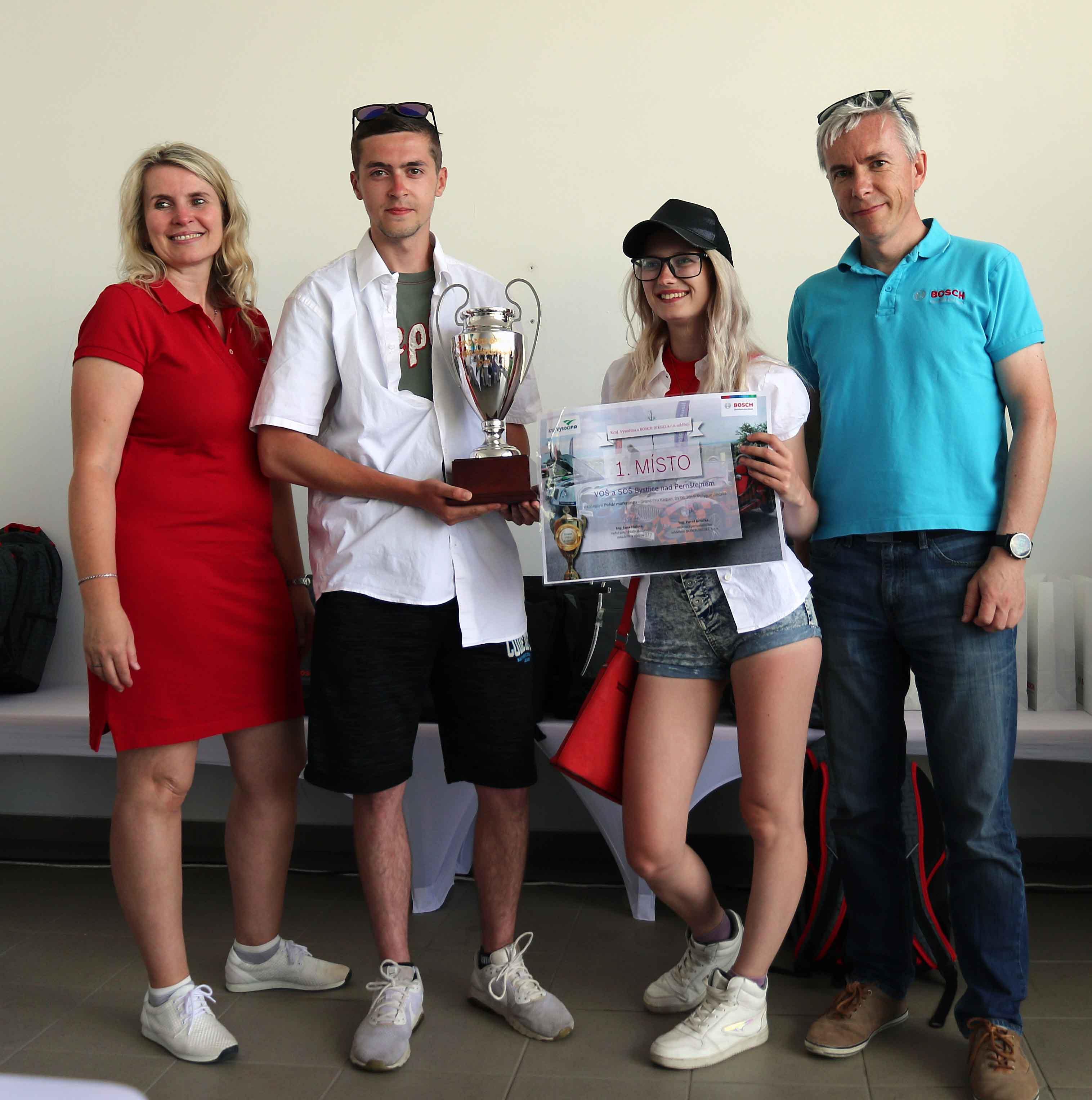 Vítězem Poháru marketingu se stala VOŠ a SOŠ Bystřice nad Pernštejnem.