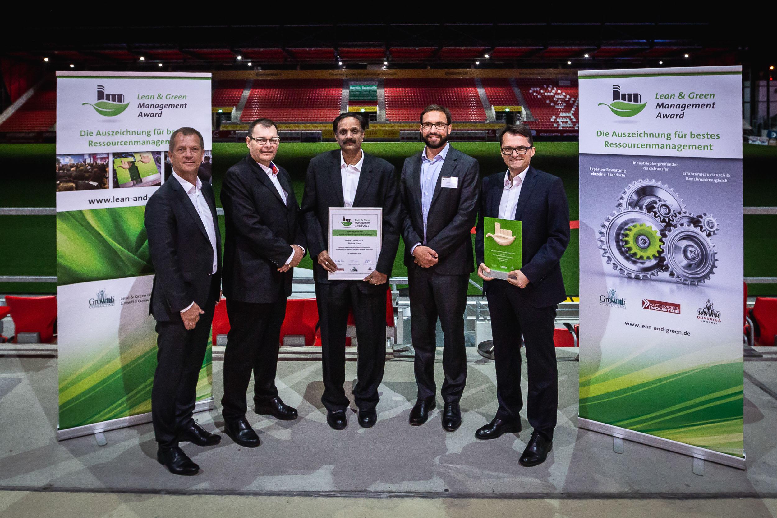 """Záběr z předání ceny """"Lean & Green Efficiency Awards 2019""""."""