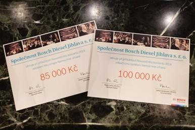 Výnos z koncertu ve výši 185 tisíc korun věnuje firma Bosch a její zaměstnanci n ...