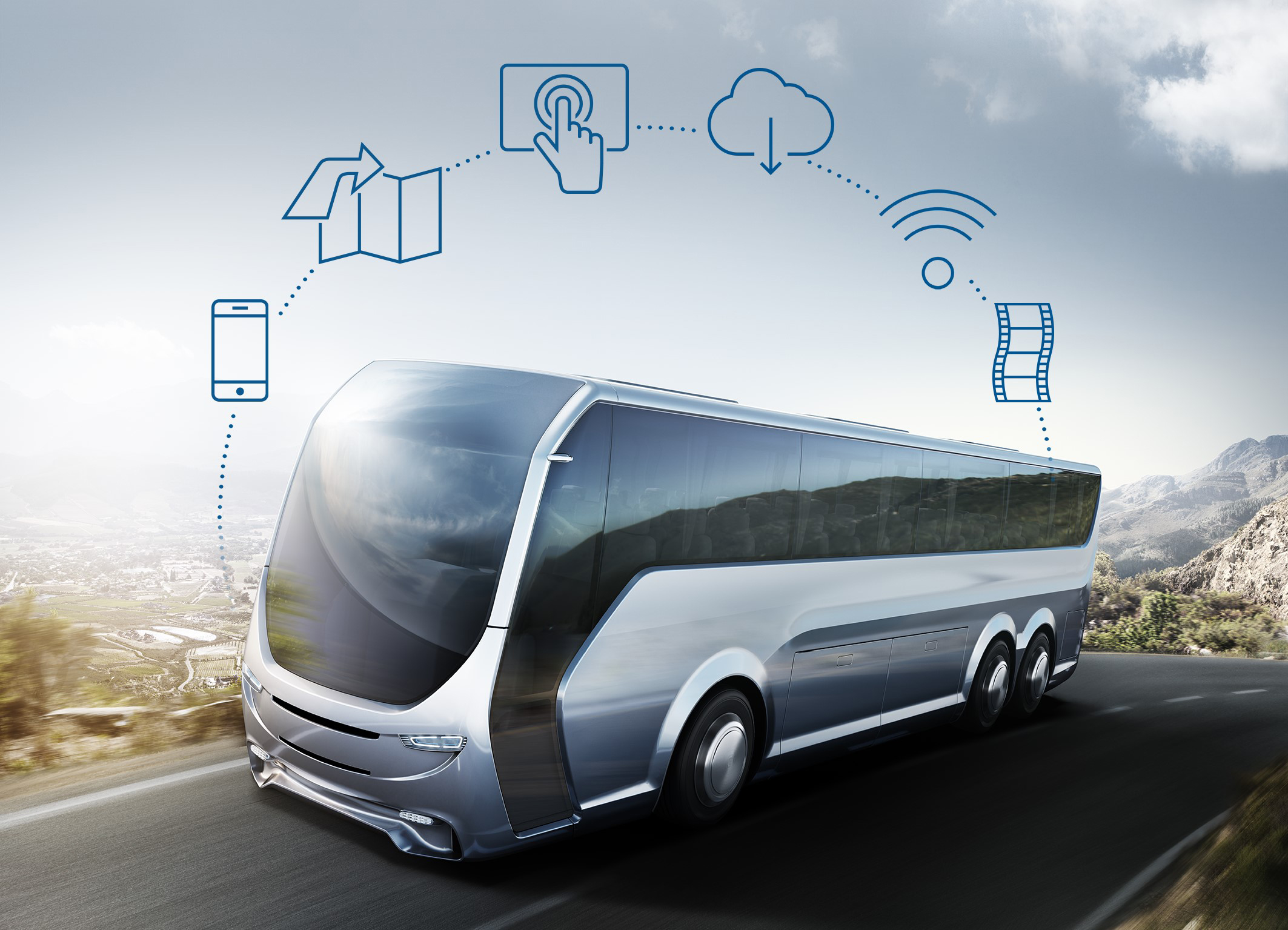 Bosch proměňuje oddíly pro cestující v autobusech na centra zábavy
