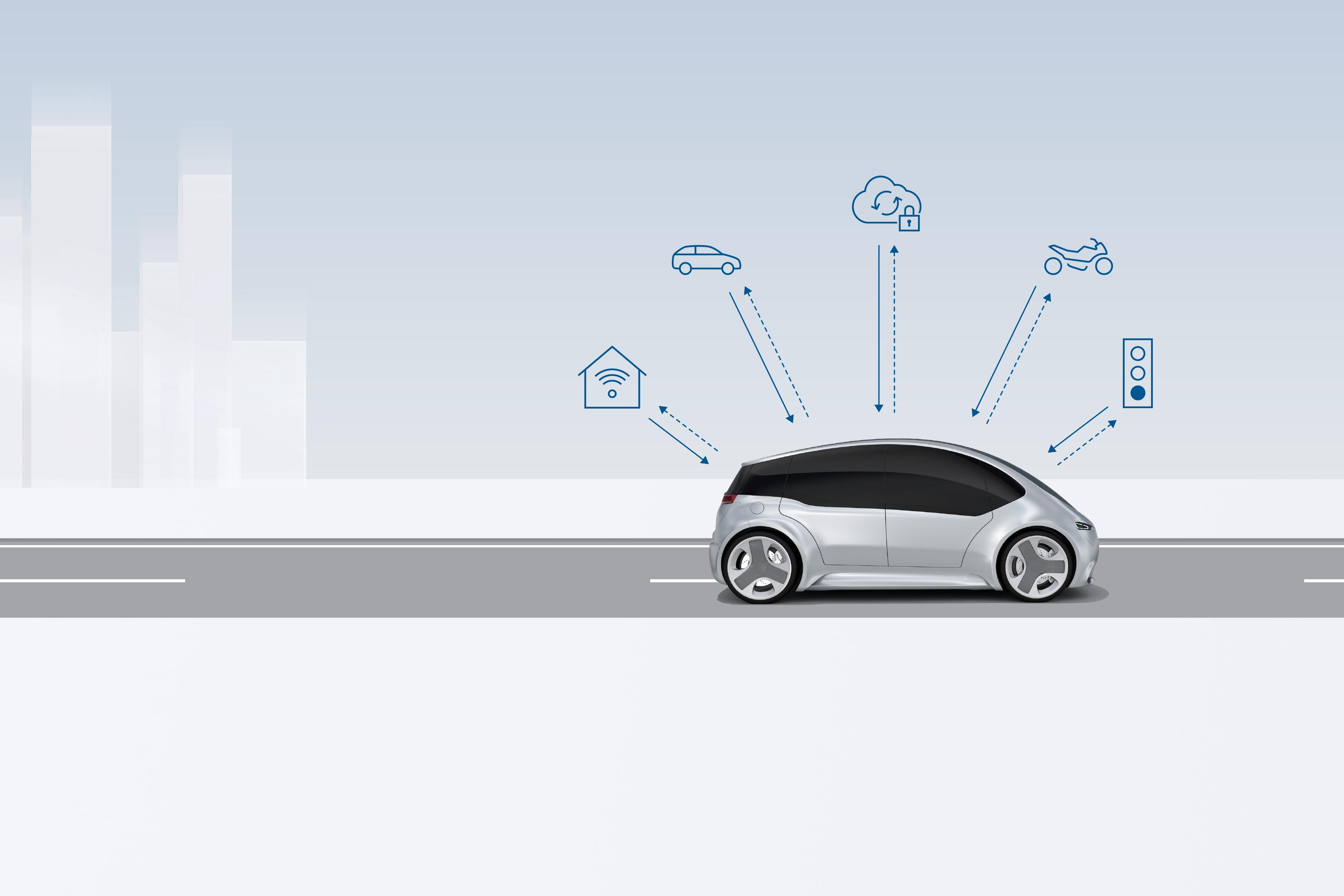 """Upozornění v kritických situacích skrze komunikaci """"vehicle-to-x"""" od společnosti Bosch"""