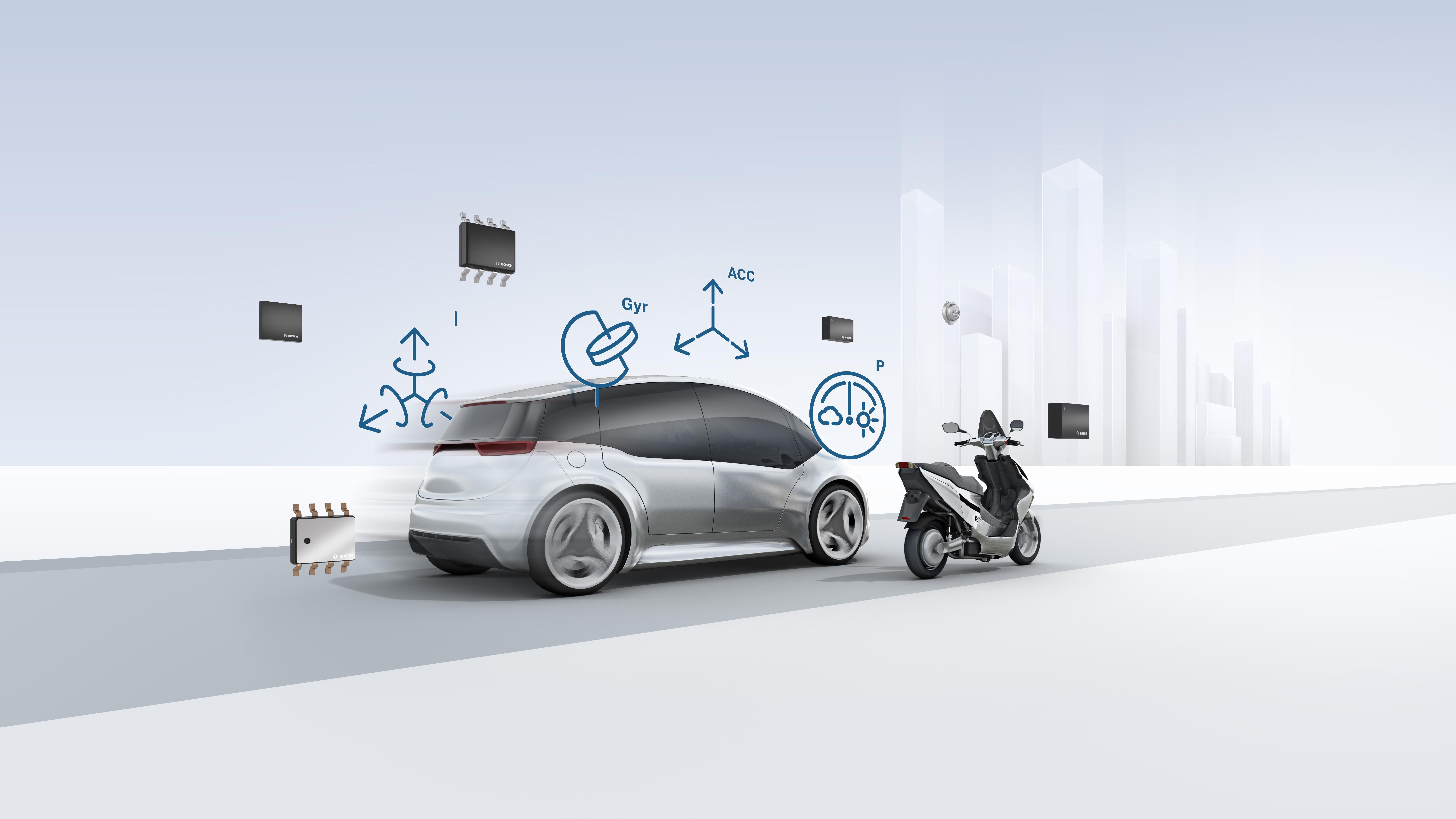 Senzory MEMS (MicroElectroMechanical Systems) pro řešení mobility
