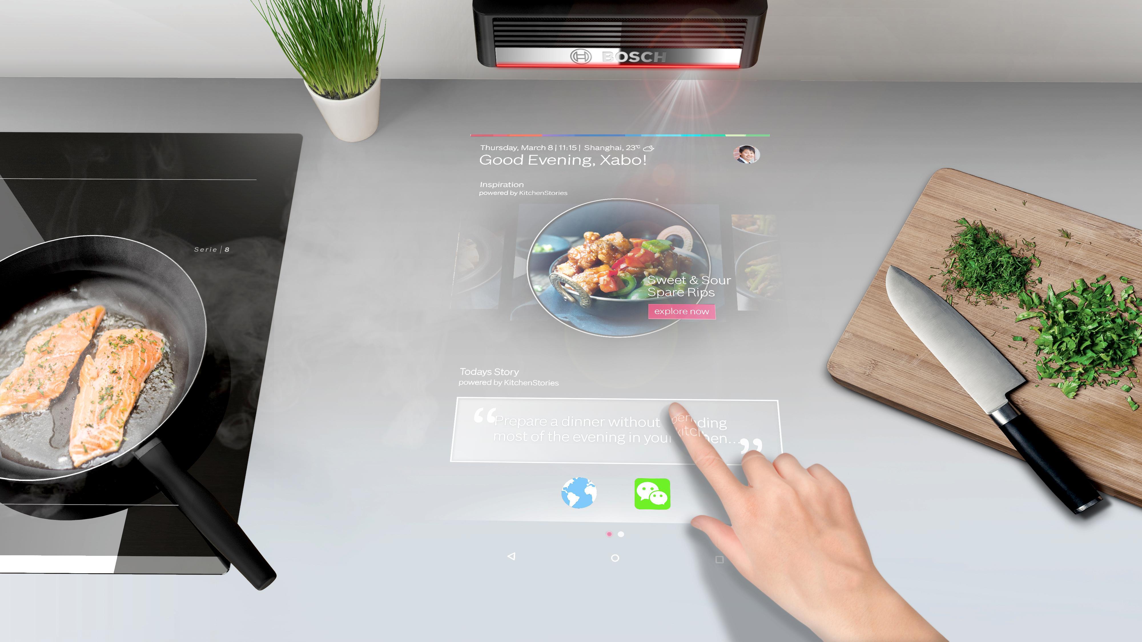 Vaření bez ulepených dotykových displejů: Projektor PAI