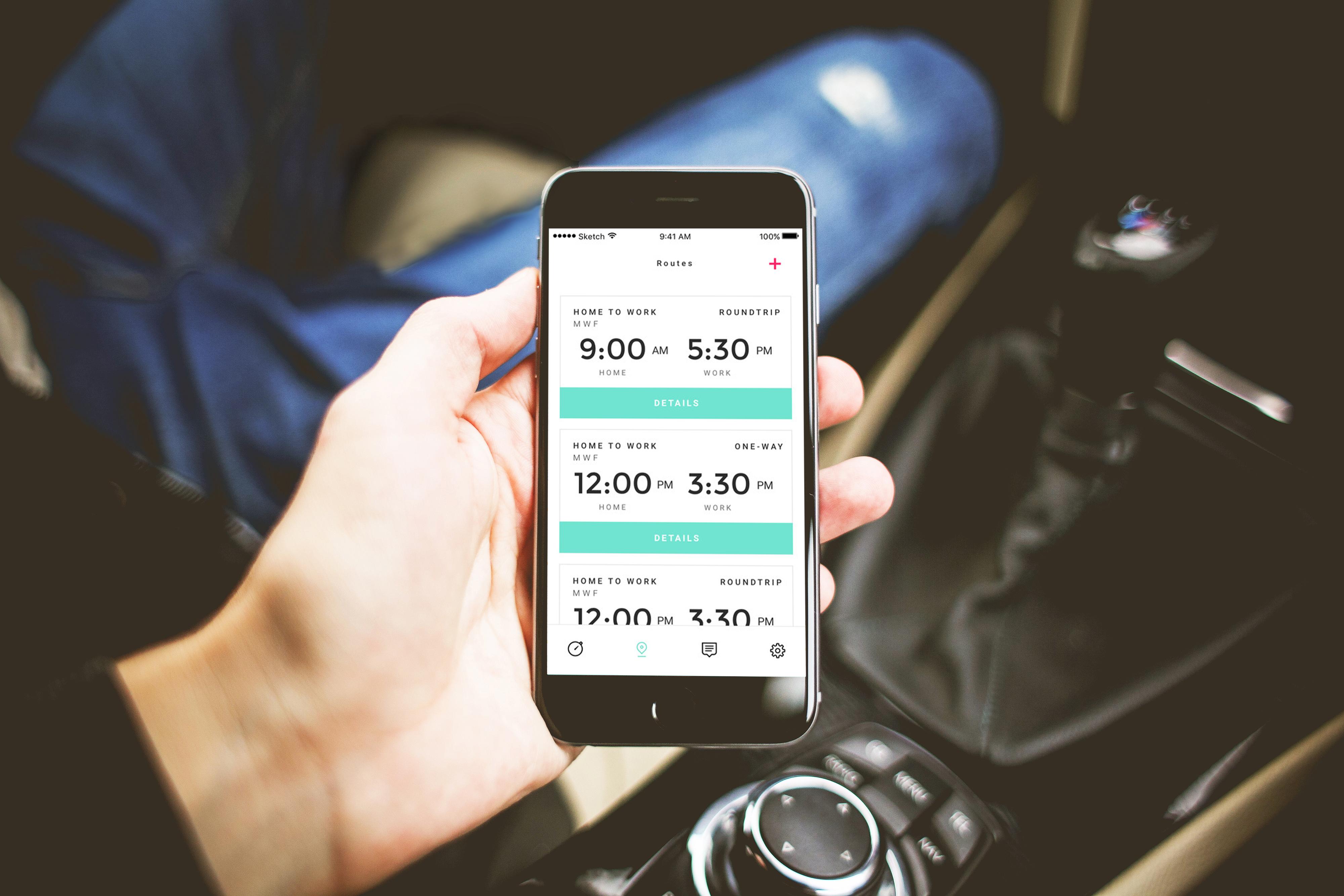 Aplikace pro spolujízdu SPLT