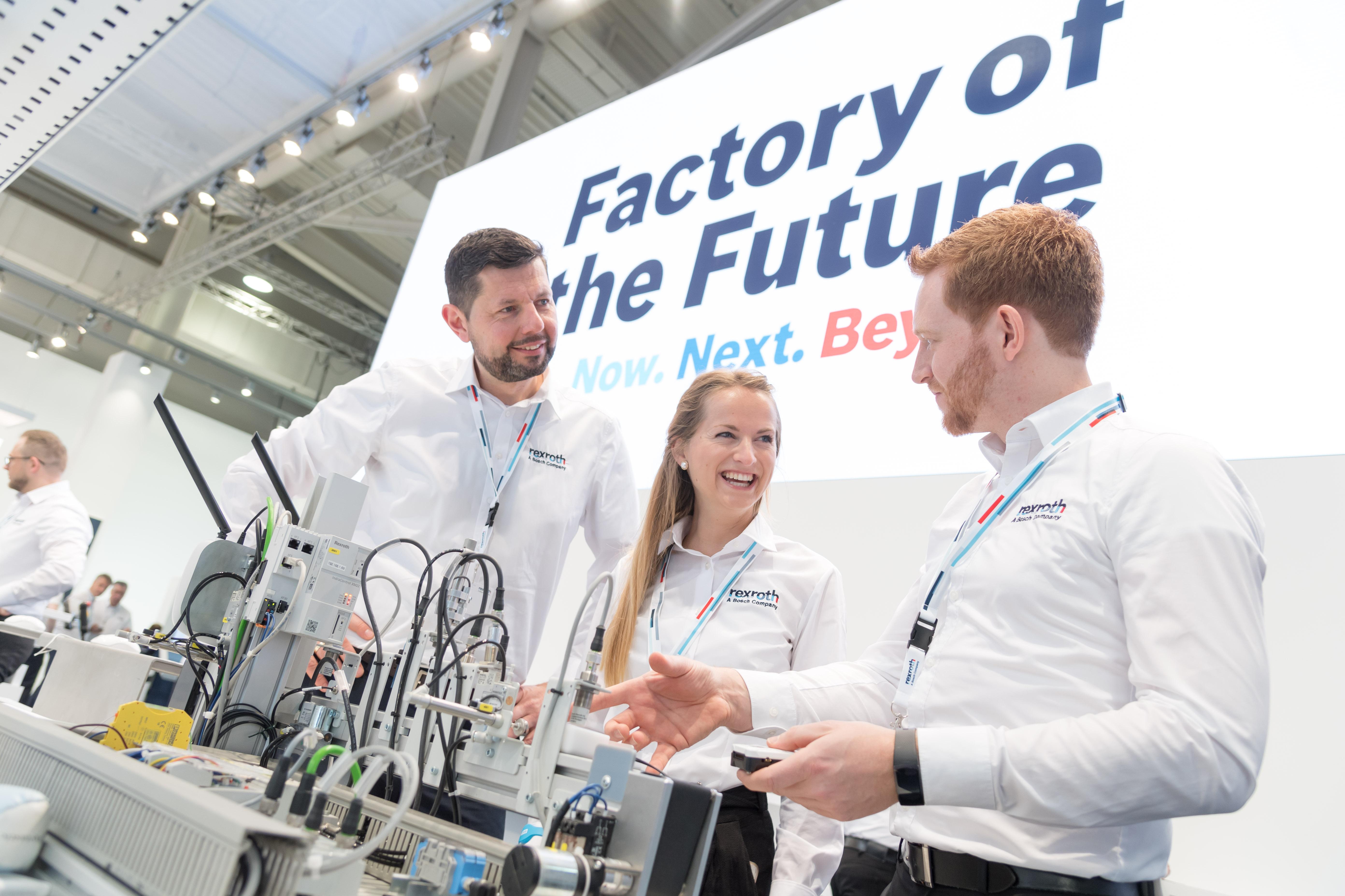 Na veletrhu Hannover Messe 2019 představuje Bosch inovativní řešení pro továrnu budoucnosti