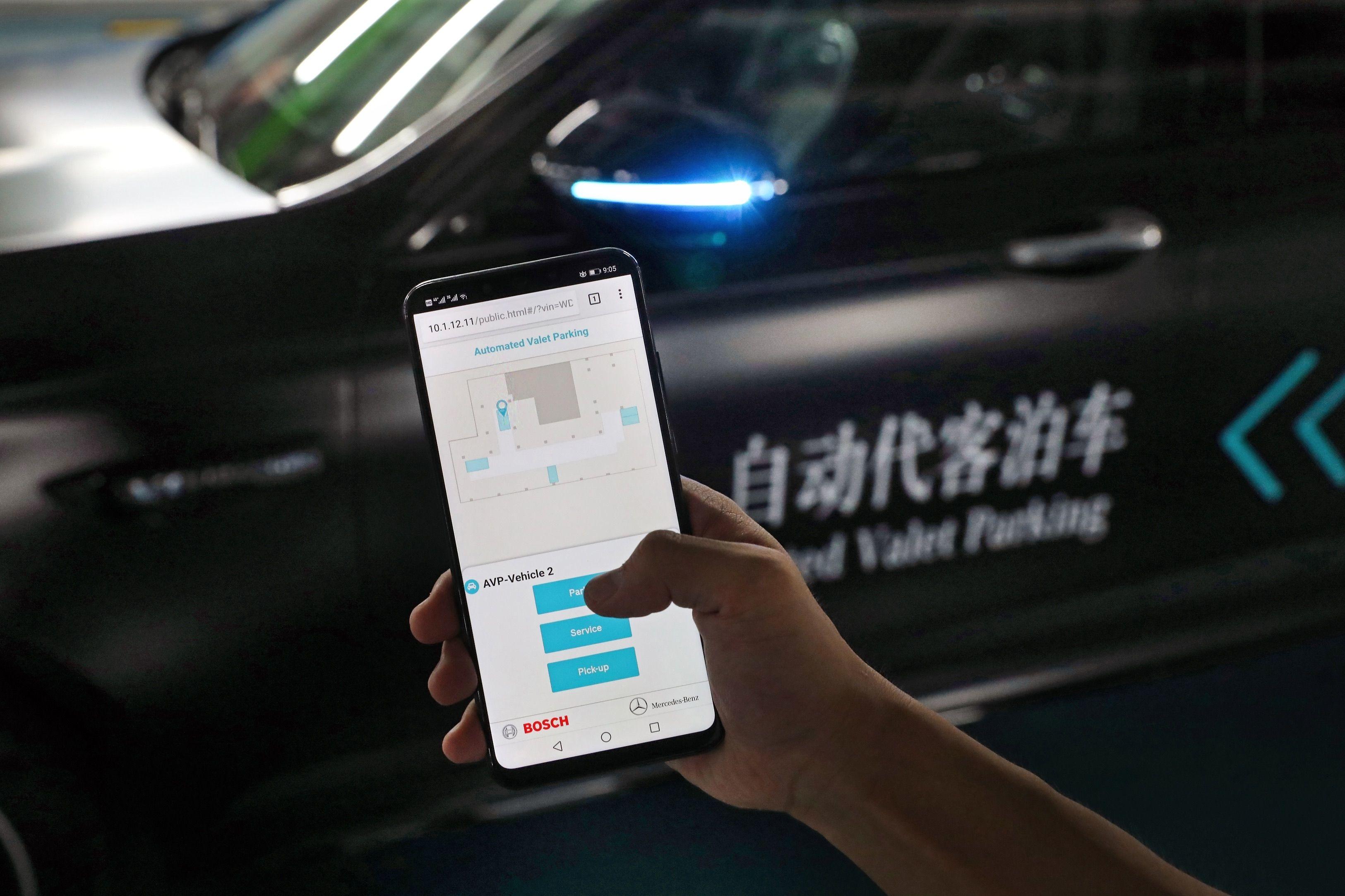 Automatizované parkování v parkovacích garážích v Číne