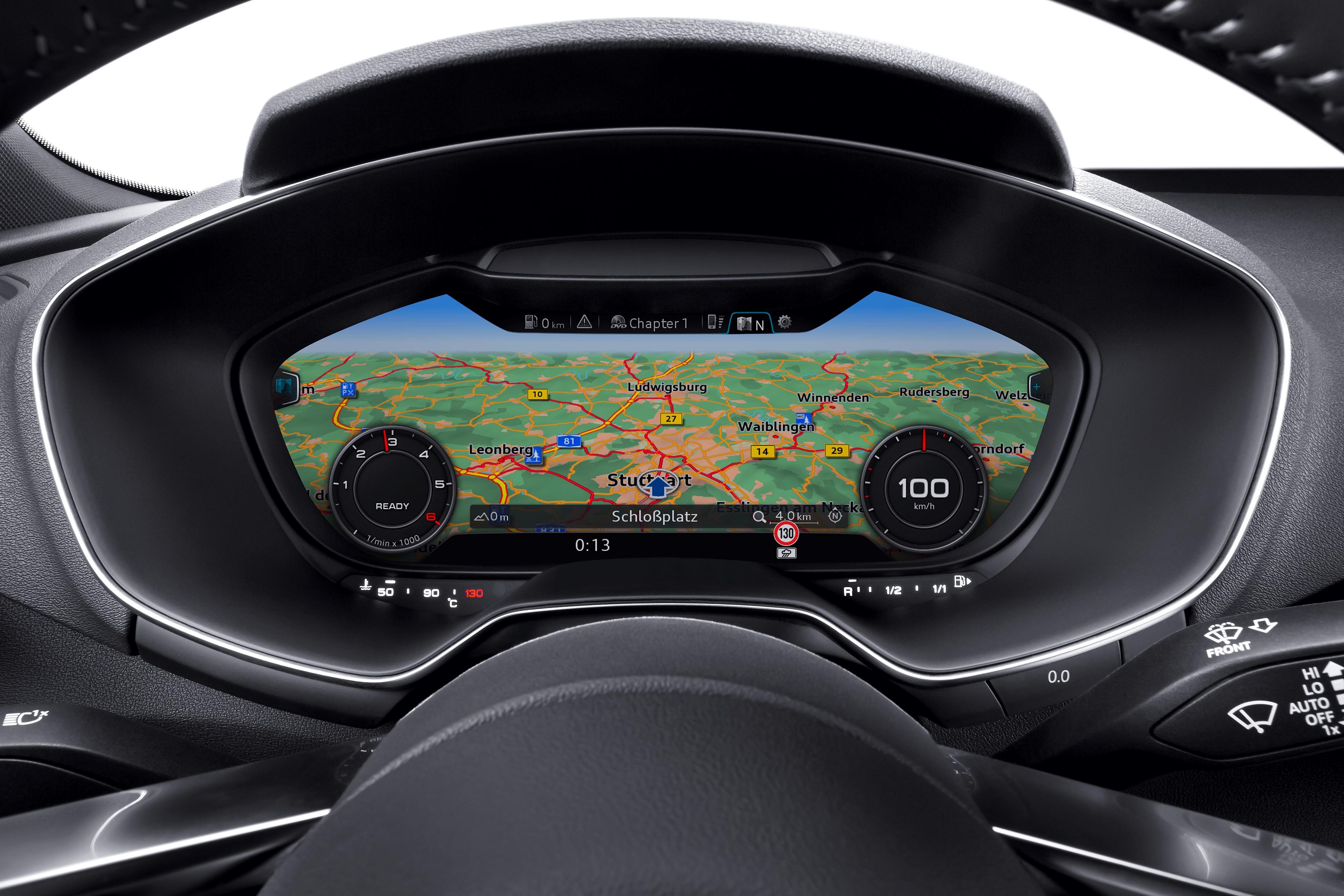 První volně programovatelný displej v Audi TT