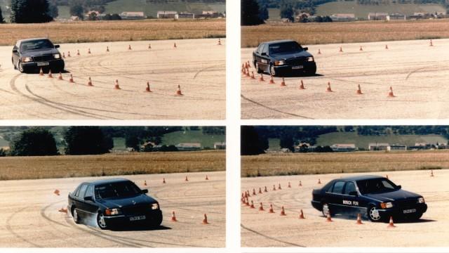 Testování ESP® na zkušební trati Schwieberdingen v roce 1995