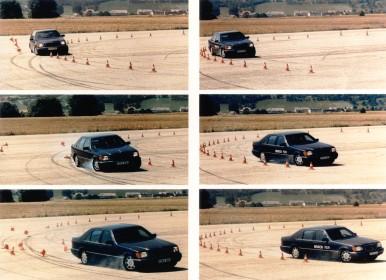Testovanie ESP® na skúšobnej trati Schwieberdingen v roku 1995