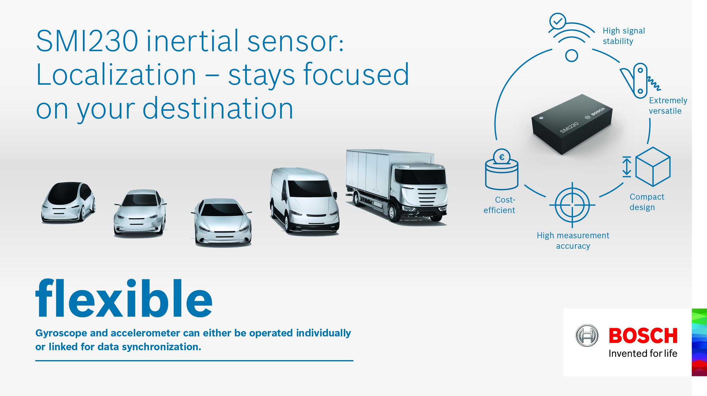 Senzor SMI230 zvyšuje spoľahlivosť navigačných systémov