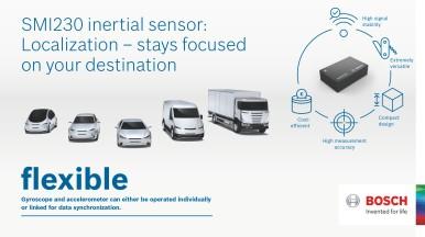 Senzor SMI230 zvyšuje spolehlivost navigačních systémů