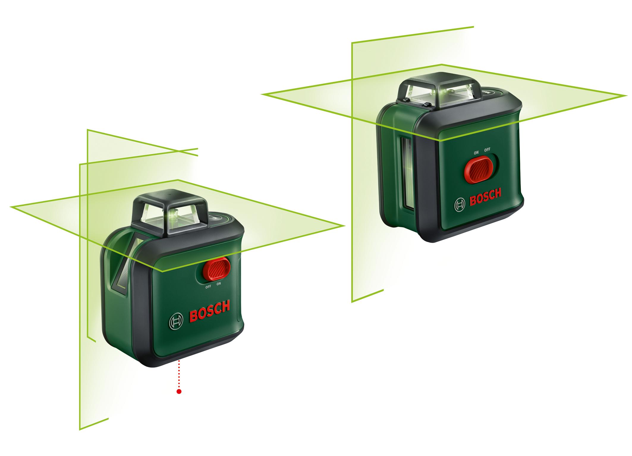 Zelené laserové diody pro lepší viditelnost: Nové 360 stupňové liniové lasery od firmy Bosch pro kutily